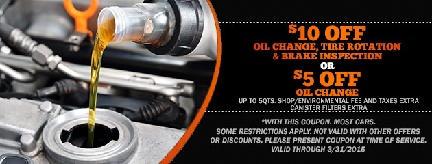 $5 - $10 Off Oil Change & Services