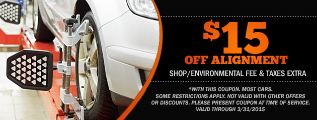 $15 Off Alignment